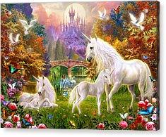 The Castle Unicorns Acrylic Print by Jan Patrik Krasny