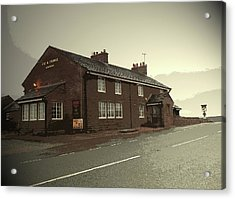The Cat And Fiddle Public House, Pictured Here Acrylic Print by Litz Collection