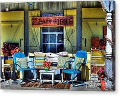 The Cat And The Fiddle Acrylic Print by Mel Steinhauer
