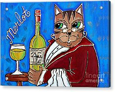 The Cat Butler Acrylic Print
