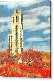 The Cathedral Of Learning At The University Of Pittsburgh Acrylic Print