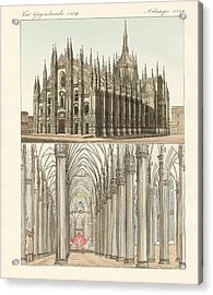 The Cathedral Of Milan Acrylic Print by Splendid Art Prints