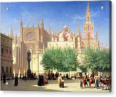 The Cathedral Of Seville Acrylic Print by Achille Zo