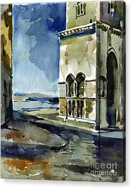 The Cathedral Of Trani In Italy Acrylic Print by Anna Lobovikov-Katz