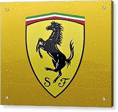 The Cavallino Rampante Symbol Of Ferrari Acrylic Print