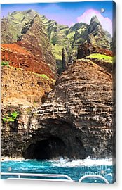 The Caves Of Kauai Acrylic Print