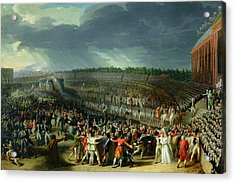 The Celebration Of The Federation, Champs De Mars, Paris, 14 July 1790 Oil On Canvas Acrylic Print