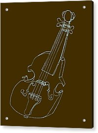 The Cello Acrylic Print by Michelle Calkins