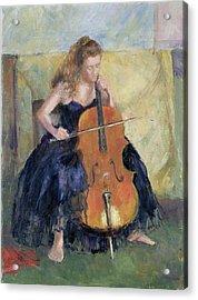 The Cello Player, 1995 Acrylic Print