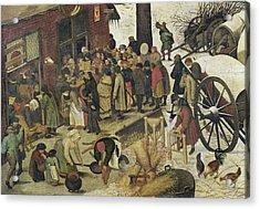 The Census At Bethlehem Acrylic Print by Bruegel