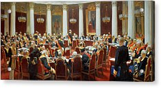 The Ceremonial Sitting Of The State Council 7th May 1901 Acrylic Print by Ilya Efimovich Repin