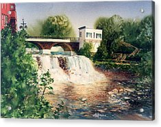 The Chagrin Falls In Summer Acrylic Print