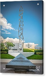 The Challenger Memorial 2 - Bayfront Park - Miami Acrylic Print by Ian Monk