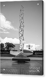 The Challenger Memorial - Bayfront Park - Miami - Black And White Acrylic Print by Ian Monk