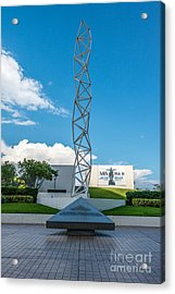 The Challenger Memorial - Bayfront Park - Miami Acrylic Print by Ian Monk
