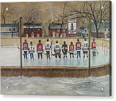 The Champs - 2013 Stanley Cup  Acrylic Print by Ron  Genest