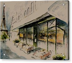 The Champs Elysees Acrylic Print