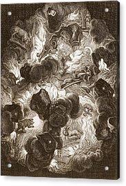 The Chaos, Engraved By Bernard Picart Acrylic Print by Abraham Jansz van. Diepenbeeck