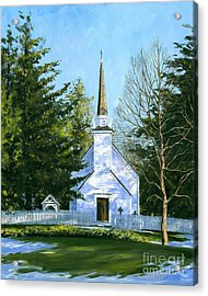 The Chapel Of The Mohawks Acrylic Print by Michael Swanson