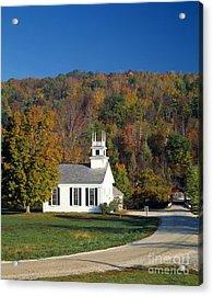 The Chapel-on-the-green,west Arlington Acrylic Print by Rafael Macia