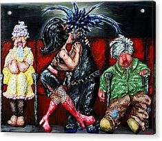 The Chaperones At The Movies Acrylic Print by Alison  Galvan