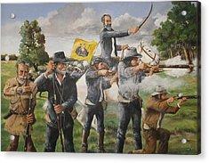 The Charge At San Jacinto Acrylic Print by Bob Hallmark