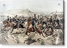 The Charge Of The Light Brigade, 1895 Acrylic Print by Richard Caton Woodville