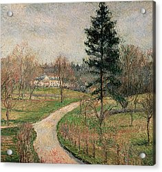 The Chateau At Busagny Acrylic Print by Camille Pissarro