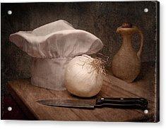 The Chef Acrylic Print by Tom Mc Nemar