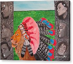 The Cherokees Acrylic Print by Jeepee Aero