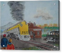 The Chesapeake And Ohio George Washington At South Portsmouth Station Acrylic Print