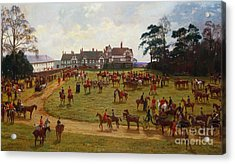 The Cheshire Hunt    The Meet At Calveley Hall  Acrylic Print by George Goodwin Kilburne
