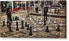 The Chess Match In Portland Acrylic Print