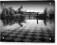 The Chessplayer Acrylic Print by Paolo Lazzarotti
