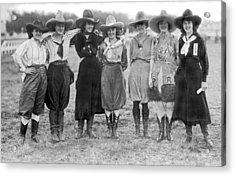 The Cheyenne Rodeo Roundup Cowgirls Acrylic Print