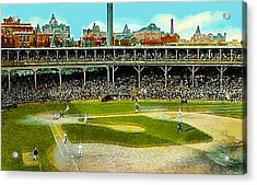 The Chicago Cubs West Side Grounds Stadium In 1913 Acrylic Print