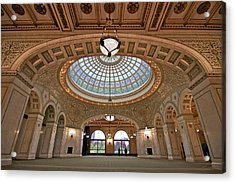 The Chicago Cultural Center Acrylic Print by John Babis