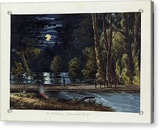 The Chickahominy- Sumner's Upper Bridge Acrylic Print by Celestial Images