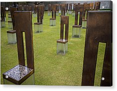 The Child's Chair Oklahoma City Memorial Acrylic Print by Mary Lee Dereske