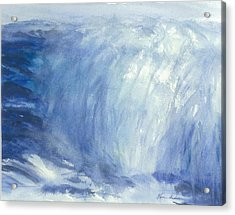 The Chill Of The Winters Sea Acrylic Print by Karen  Condron