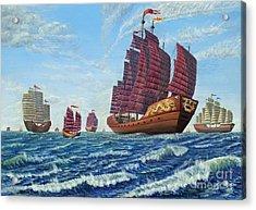 The Chinese Treasure Fleet Sets Sail Acrylic Print