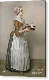The Chocolate Girl Acrylic Print by Jean-Etienne Liotard
