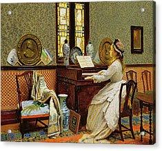The Chorale Acrylic Print by John Atkinson Grimshaw