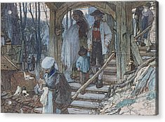 The Christening Gate In Lausanne, C.1861 Acrylic Print by Matthijs Maris