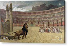The Christian Martyrs Last Prayer Acrylic Print by Jean Leon Gerome