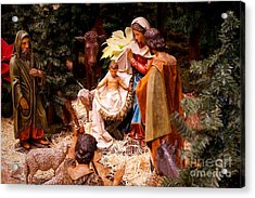 The Christmas Creche At Holy Name Cathedral - Chicago Acrylic Print