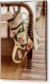 The Christmas Stocking Acrylic Print by Margie Hurwich