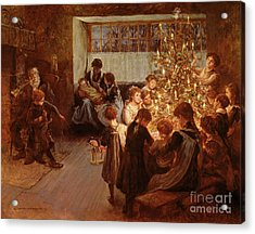 The Christmas Tree Acrylic Print by Albert Chevallier Tayler