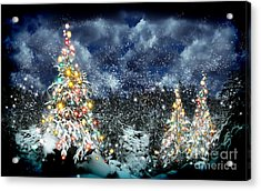 The Christmas Tree Acrylic Print by Boon Mee