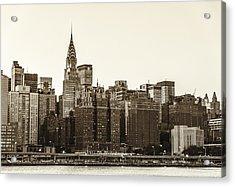 The Chrysler Building And New York City Skyline Acrylic Print by Vivienne Gucwa